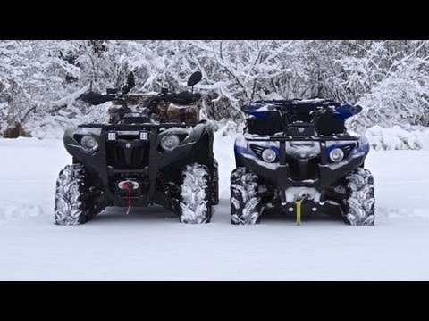 Snow Day! - First ATV Ride On The Lake This Year - Dec.16 2012