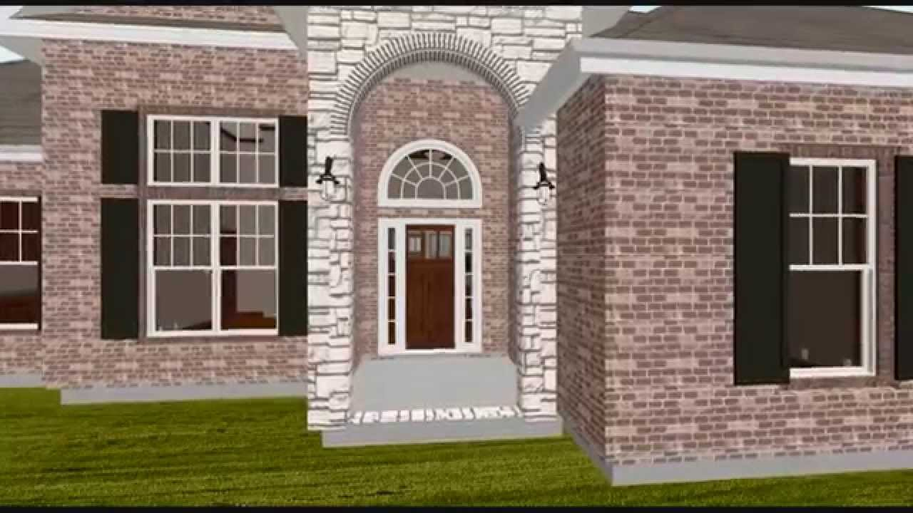 Montgomery texas house plans custom home design youtube for Texas custom home plans