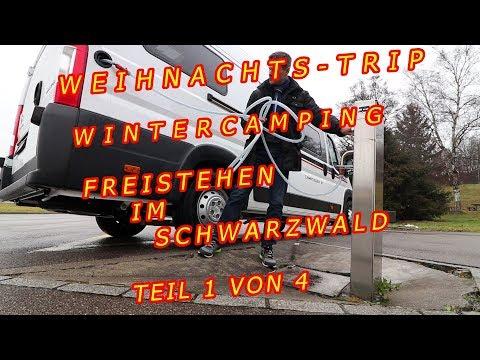 WINTERCAMPING, KALTENBRONN, SCHWARZWALD, GLOBECAR CAMPSCOUT B, WEIHNACHTSTRIP Teil 1 von 4.
