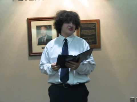 Christian Wewers - Freshman - Prose - Escape from Furnace - Kewanee High School Speech Team