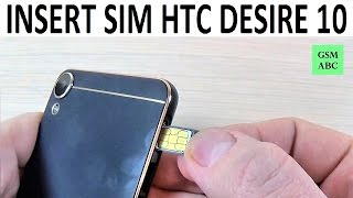 INSERT SIM & Memory SD Card HTC Desire 10 Lifestyle | How to
