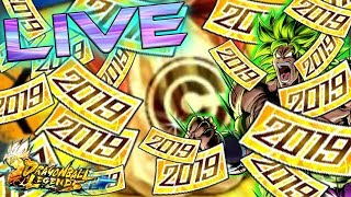 NEW YEARS SUMMONS TO END 2018! I BRAND NEW TICKETS! I WILL SUMMON EVERYTHING! | DRAGON BALL LEGENDS