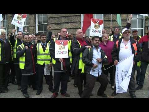 London Bus Strike Solid
