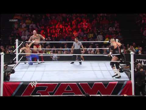 Tensai & Brodus Clay vs. Primo & Epico: Raw, Feb. 11, 2013