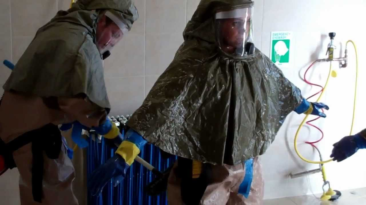 Hospital First Receivers Decontaminating Level C Ppe Youtube