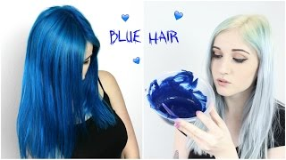 Bleaching Roots + Dyeing Hair Comic Blue!