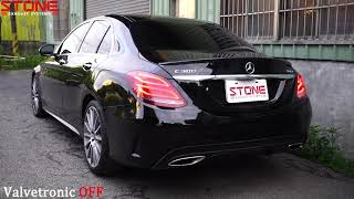 MERCEDES W205 C300 M274 x STONE EXHAUST Cat-back