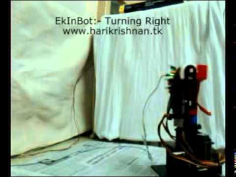 EkInBot- walking forward and backward, turning left and right 20-09-11 (www.harikrishnan.tk)