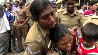 Police Violent Attack On The Supporters Of Tamil Folk Singer Kovan - Red Pix 24x7