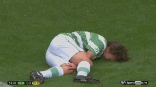 Ouch! One Direction's Louis Tomlinson tackle by Gabriel Agbonlahor