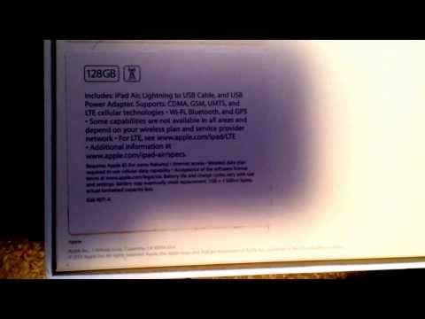 Apple Ipad Air Box ▶ Apple Ipad Air 128 gb