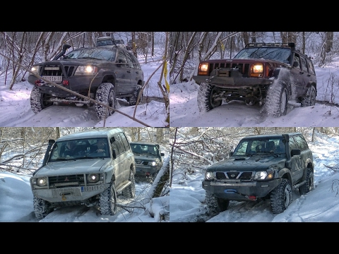 Jeep Cherokee vs Grand Cherokee vs Mitsubishi Pajero vs Nissan Patrol - part 1