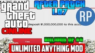 GTA 5 Online: EASY BILLIONS OF DOLLARS AND UNLIMITED RP MOD! After 1.07  Unlimited Money! (How To)
