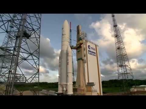 Ariane 5 delivers DIRECTV-14 and GSAT-16 to orbit on Arianespace's latest mission success