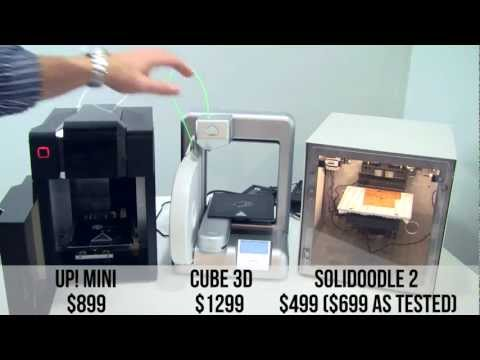 3D Printer Round-Up - Up! Mini, Solidoodle 2, Cube 3D