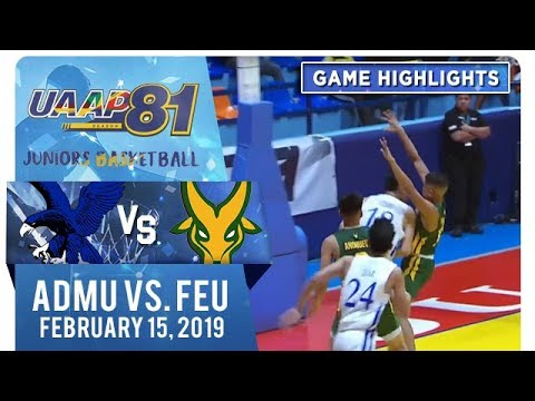 UAAP 81 Jrs Basketball Final Four: ADMU vs FEU  Game Highlights  February 15 2019