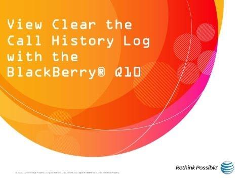 BlackBerry Q10 : Call Log