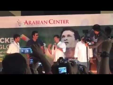 Two cricket legend in dubai arabian center