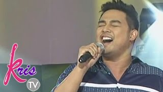 Jed Madela sings To Love You More on Kris TV