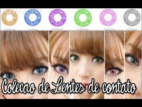 Coleção de lentes de contato + cuidados com as lentes