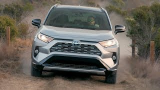 2019 Toyota RAV4 XSE Hybrid | Silver Sky Metallic | Road & Trail Driving, Interior, Exterior
