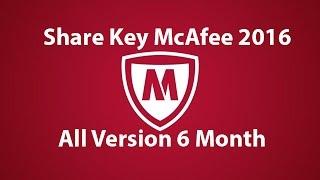 Share Key McAfee 2016 and Installation On Windows
