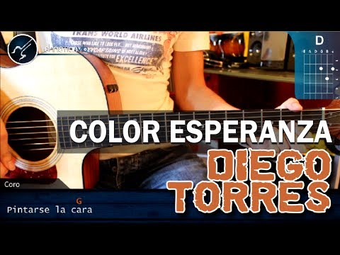 Como tocar Color Esperanza DIEGO TORRES en guitarra Acustica HD Turotial