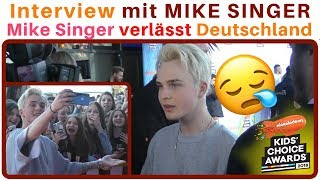 DARUM verlässt MIKE SINGER Deutschland 😞 Mike Singer im INTERVIEW 😍 Kids Choice Awards | 2Flash