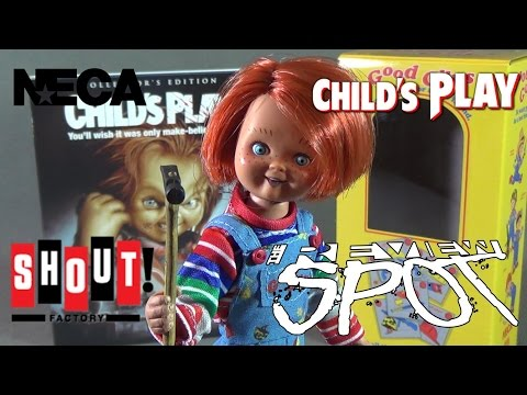 Toy Spot - NECA Retro Cloth Chucky w/ Shout Factory Child's Play Blu Ray Set