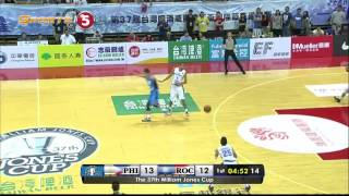 Philippines vs. Chinese Taipei A - Q1| JONES CUP 2015