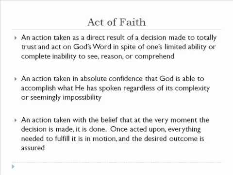 Header of Act Of Faith