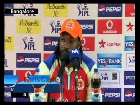Ipl 2013 Season 6-royal Challengers Win Vs Pune Warriors-chris Gayle-ians India Videos video