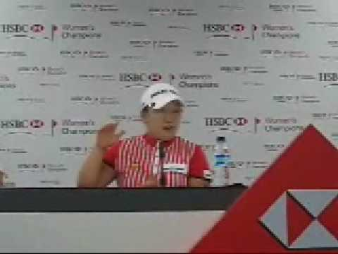 Shin Ji Yai, at the HSBC Women's Champions tournament press conference, Singapore Video