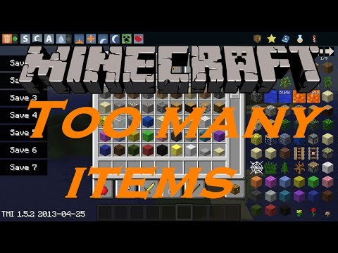 Minecraft Mods: Como descargar e instalar Too Many Items para Minecraft 1.5.2