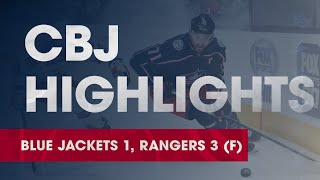 HIGHLIGHTS: Blue Jackets 1, Rangers 3 | Bjorkstrand tallies for 12th time in 14 games