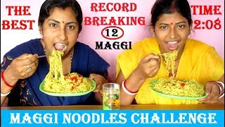 12 Maggi Noodles Eating Challenge   The Fastest Maggi Eaten Ever   Food Challenge India