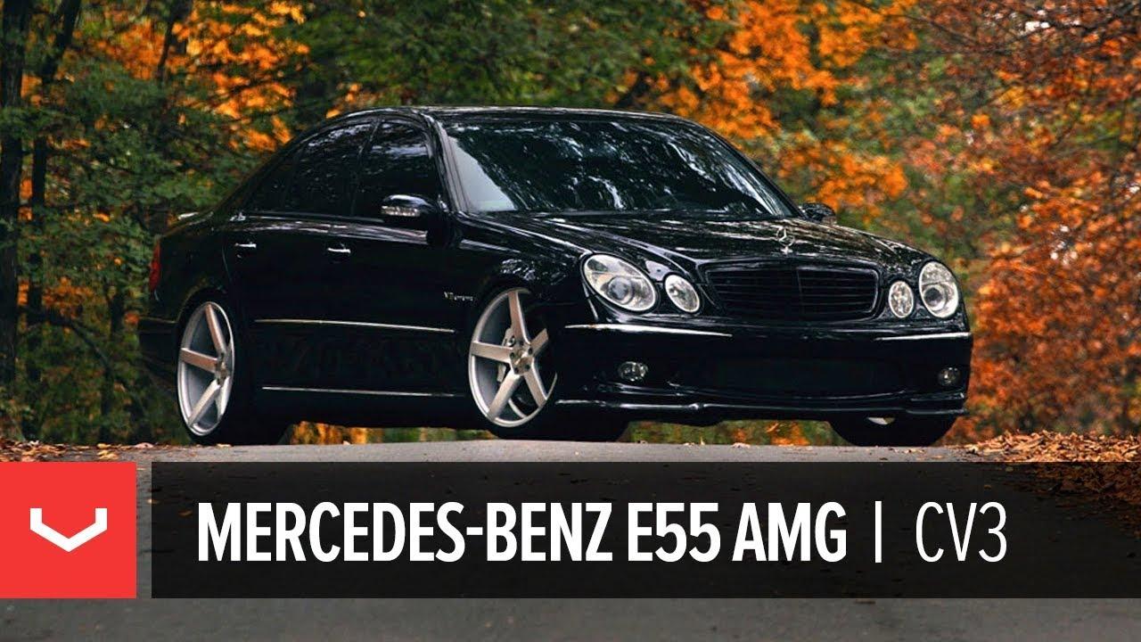 Mercedes Benz E55 Amg On 20 Quot Vossen Vvs Cv3 Concave Wheels
