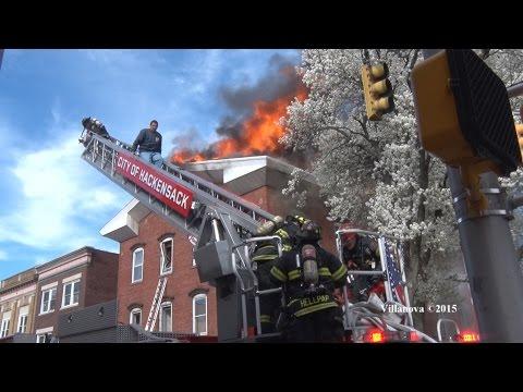 Early video: 3-alarm NJ restaurant fire