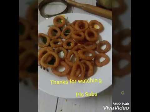 Ring murukku|kodubale|ரிங் முறுக்கு|how to make ring murukku at home|spicy murukku recipe|chegodilu