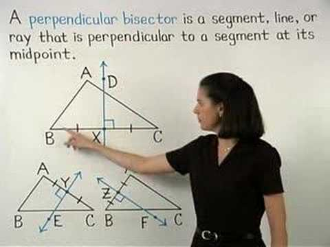 how to find perpendicular bisector of a triangle
