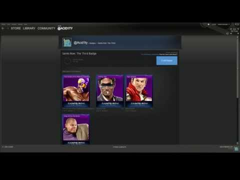 Steam Trading Cards - Saints Row The Third Level 1 Badge Crafting (Summer Sale)