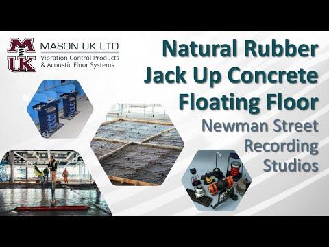 Concrete Floating Floor [Natural Rubber System]  | MASON UK LTD – Newman Street Recording Studios