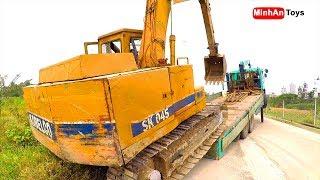 Excavator and Truck | Truck Excavator Heavy Transport ♫ Song for kids in VietNam