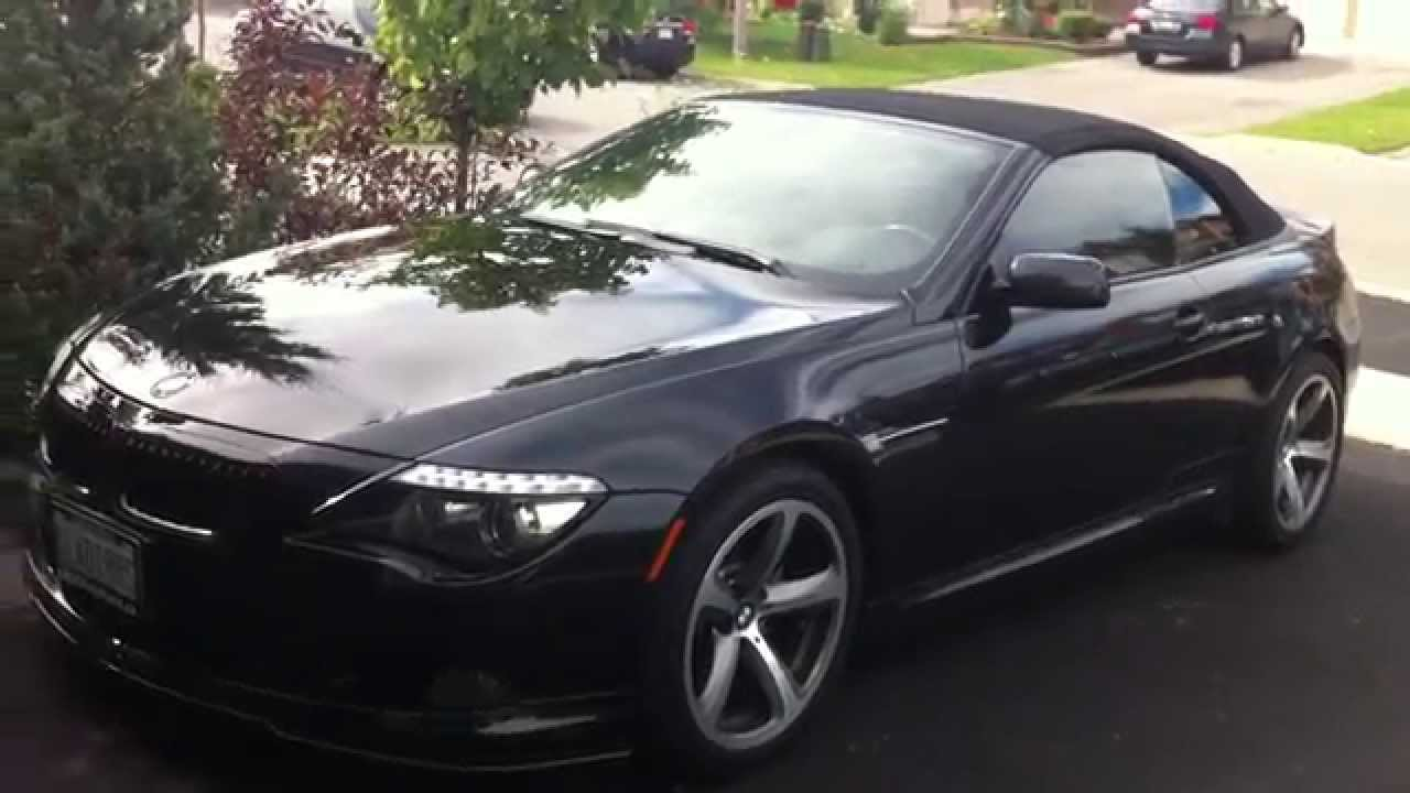 2009 bmw 650i convertible startup exhaust in depth tour youtube