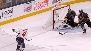 Ovechkin silences the Vegas crowd with a one-timer
