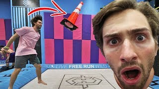NEVER BEFORE SEEN TRAMPOLINE TRICK! (WE COULDN