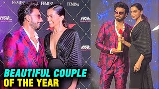 Deepika Padukone Ranveer Singh Beautiful Couple Of The Year Nykaa Femina Beauty Awards 2019