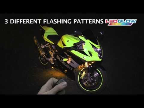 Yellow LED Flexible Motorcycle Lighting Kit