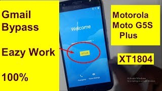Motorola Moto G5S Plus XT1804 Google account bypass Frp reset 2018 also work