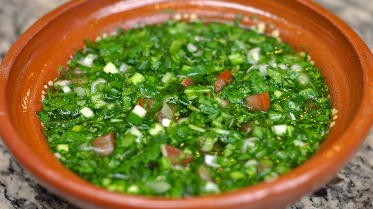 Aji Casero / Colombian Green Sauce Recipe - YouTube